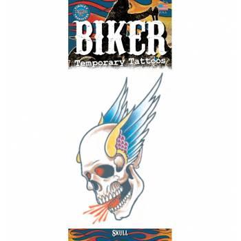 Tattoos Biker Schädel Flügel