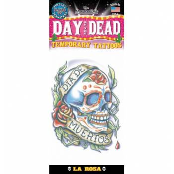 Tattoo day of dead schädel mit rosen