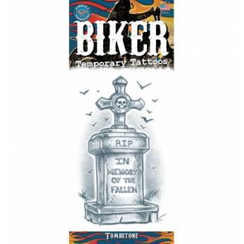 Tattoos Biker-Grabstein