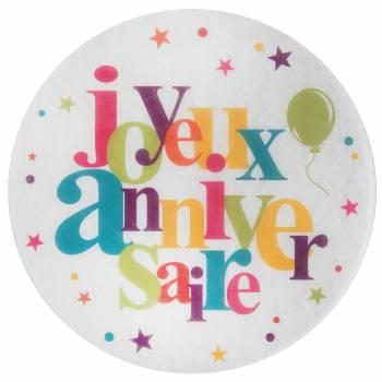 6 Tisch-Sets Happy Birthday Bunte Geburtstag