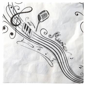 20 Servietten Note Musik