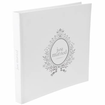 Gästebuch Just Married weiß