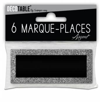 6 Marken Place Glitzer Silber