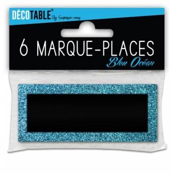 6 Markierung glitzerten Platz Blau
