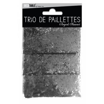 Glitzer-Trio Silber