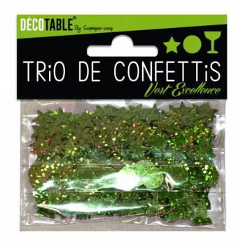 Grünes Konfetti-Trio