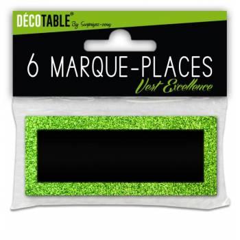 6 Glitzer-Platz Markierung Grün