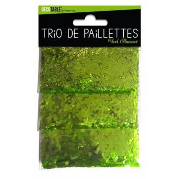 Glitzer-Trio vom grünen Tisch
