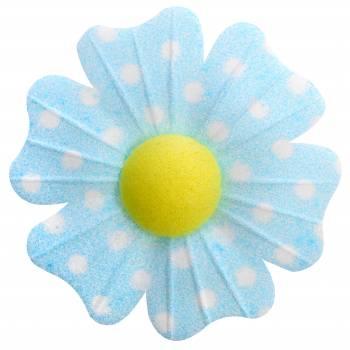 10 Blumen azyme blaue Pois