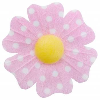 10 Blumen azyme rosa pois