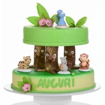 Figuren Tiere aus dem Dschungel in Zucker
