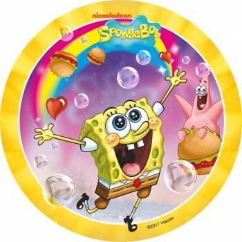 Tortenaufleger dekor SpongeBob Regenbogen Schwamm