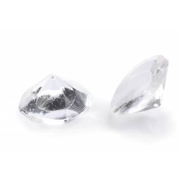 20 Essbare, transparente gelierte Diamanten