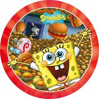 Tortenaufleger dekor SpongeBob Burger