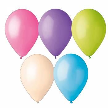 12 passende Ballons Pastell Ø30cm