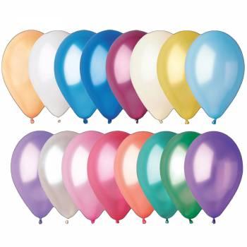 50 metallisierte Ballons passend Ø30cm