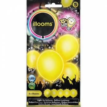 5 Gelbe Leuchtballons