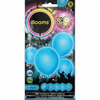 5 blaue Luftballons