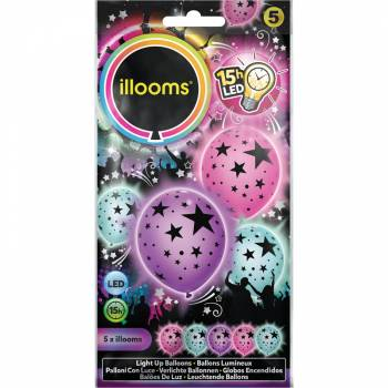 5 Leuchtende Sterne Luftballons