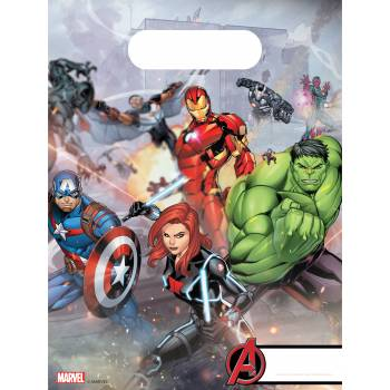 6 Partybeutel Avengers mighty
