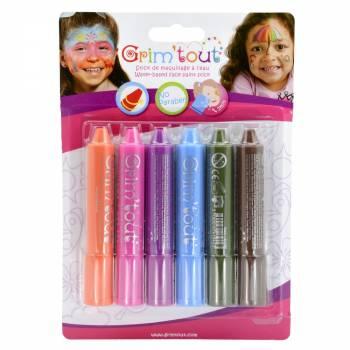 6 Regenbogen-Make-up Sticks