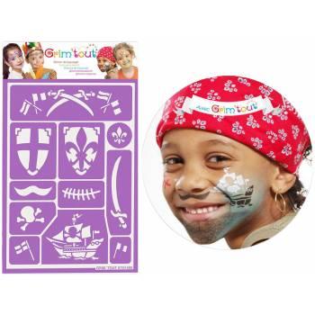 Masken-Schablone Ritter und Piraten