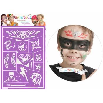 Ninja Make-up Schablone