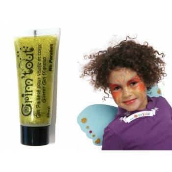 Glitzergel-Make-up Gold