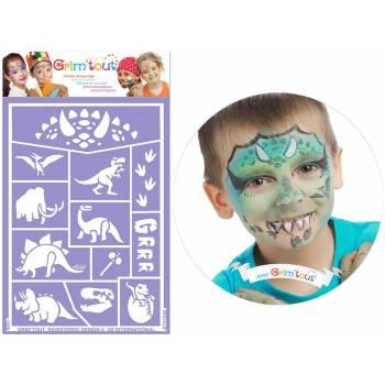 Dinosaurier Make-up-Schablone