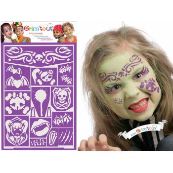 Prinzessin Dracula Make-up-Schablone