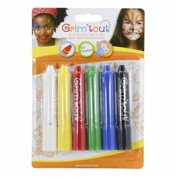 6 Primär Make-up Sticks