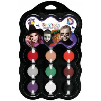 9-Farben-Make-up-Palette Halloween