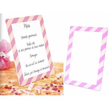Schiefer-Menü Candy rosa