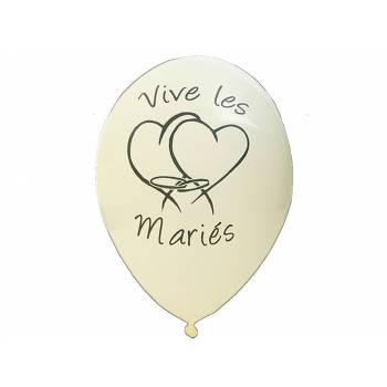 8 Luftballons Bräute Elfenbein