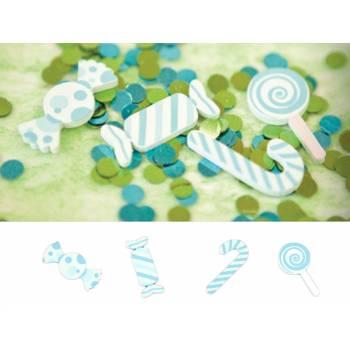 9 Tischkonfetti Candy blau