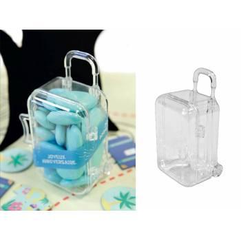 2 Schachteln plexi Trolley Koffer