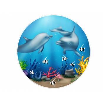 Tortenaufleger dekor Delphin