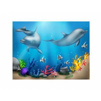 Dekor auf Zucker Delphin A4