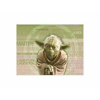 Dekor auf Zucker Dekor Yoda A4