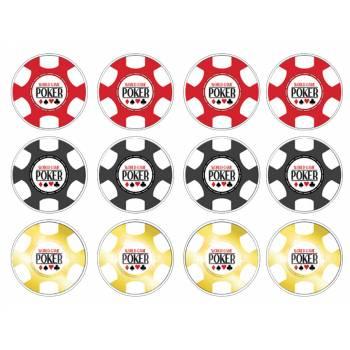 12 Essbare Muffinaufleger Poker