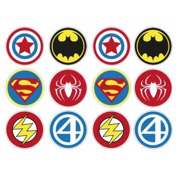 12 Essbare Muffinaufleger Heros