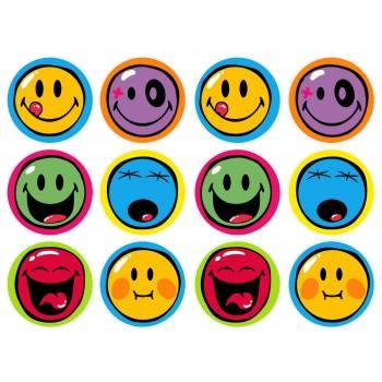 12 Essbare Muffinaufleger Smiley