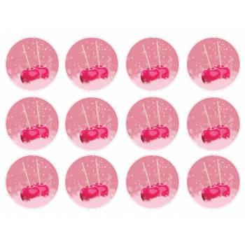 12 Essbare Muffinaufleger Liebesäpfel