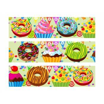 3 Bänder Von Kuchen Zucker Dekor Süßigkeiten