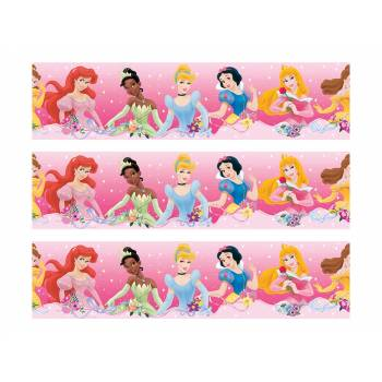 3 Kuchen-Bänder Zucker-Dekor Prinzessinnen Family