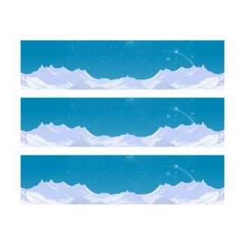 3 Kuchen-Streifen Zucker Dekor Gletscher