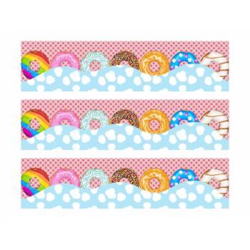 3 Kuchen Bänder Zucker Dekor Donuts