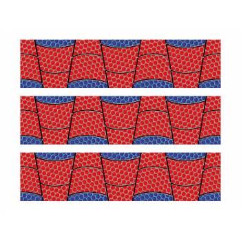 3 Bänder mit Süßigkeiten Dekor Spider