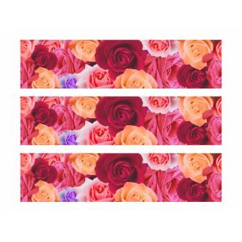 3 Kuchen Bänder Zucker Dekoration rosa