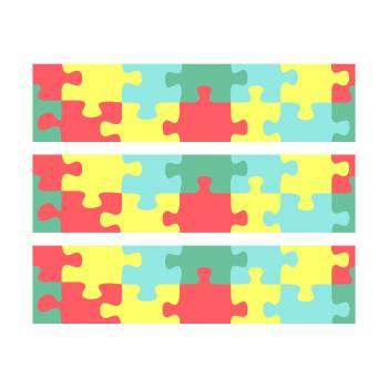 3 Kuchen Bänder Zucker Dekor Puzzle